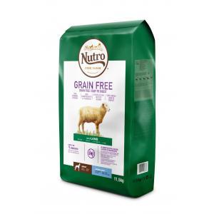 NUTRO™ GRAIN FREE™ granule s jehněčím pro dospělé psy velkých plemen 11,5 kg