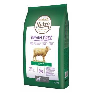 NUTRO™ GRAIN FREE™ granule s jehněčím pro starší psy 11,5 kg