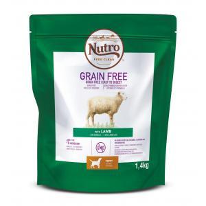 NUTRO™ GRAIN FREE™ granule s jehněčím pro štěňata a mladé psy 1,4 kg