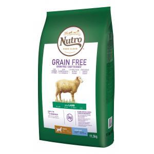 NUTRO™ GRAIN FREE™ granule s jehněčím pro štěňata a mladé psy 11,5 kg