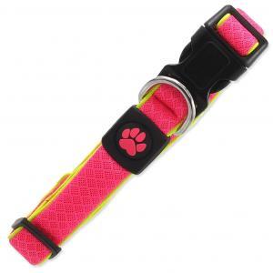 Obojok ACTIVE DOG Fluffy Reflective ružový M
