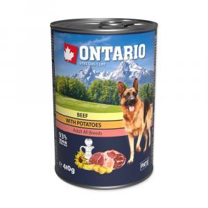ONTARIO konzerva Beef, Potatos, Sunflower Oil 400g
