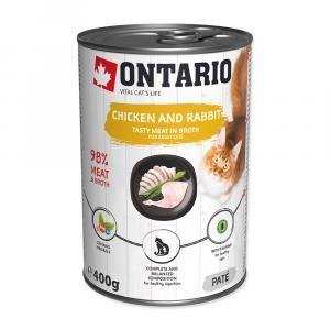 ONTARIO konzerva Chicken, Rabbit, Salmon Oil 400g