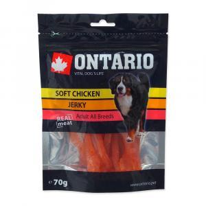 ONTARIO pochoutka Soft Chicken Jerky 70g