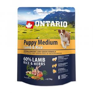 ONTARIO Puppy Medium Lamb & Rice 0,75 kg