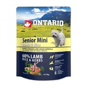 ONTARIO Senior Mini Lamb & Rice 0,75 kg