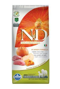 N&D GF Pumpkin DOG Adult M/L Boar & Apple 12kg + DOPRAVA ZDARMA