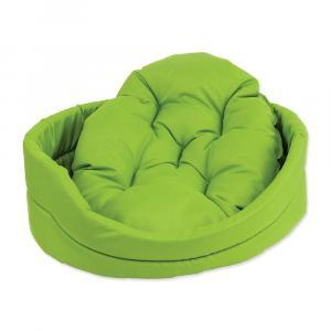 Pelech DOG FANTASY ovál s vankúšom zelený 60 cm