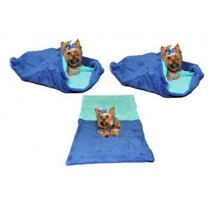 Pelíšek pro psy XL - modrá/tyrkysová