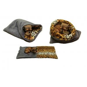 Marysa pelíšek 3v1 pro štěňátka/koťátka, šedý/leopard