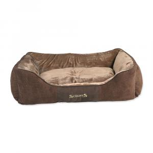 Pelíšek SCRUFFS Chester Box Bed čokoládový XL