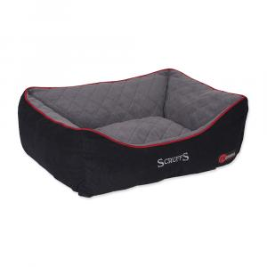 Pelíšek SCRUFFS Thermal Box Bed černý L