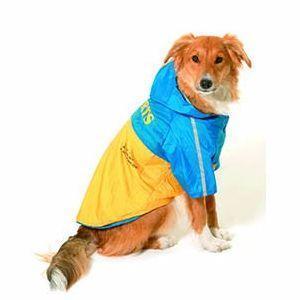 Pláštěnka pro psy 2v1 s odnímatelnou kapucí 48cm