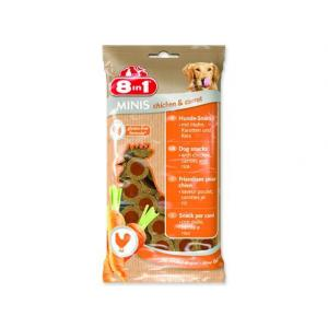 Pochoutka 8in1 Minis Chicken & Carrot 100g