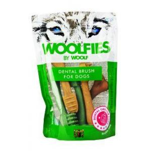 Pochoutka dentální Woolfies Dental Brush M 200g