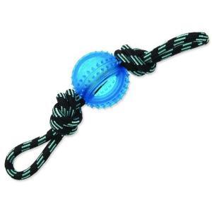 Přetahovadlo DOG FANTASY lano s míčem modré 33 cm