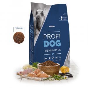 """PROFIDOG Premium Plus All Breeds Light 12 kg + """"Multipack Snack"""""""
