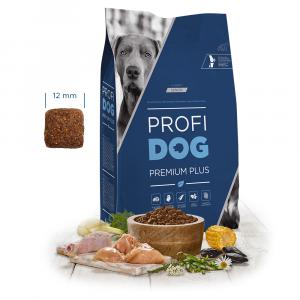 "PROFIDOG Premium Plus All Breeds Senior 12 kg + ""Polštář 4R 90cm silver"""