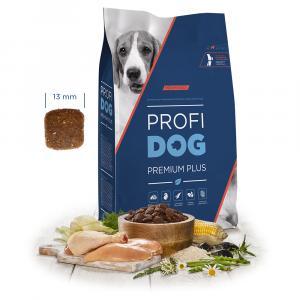 """PROFIDOG Premium Plus Medium Adult 12 kg + """"Multipack Snack"""""""