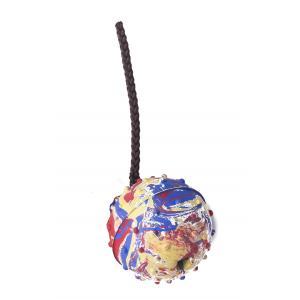 PROFIZOO Gumový míček plný s couračkou + magnet (průměr míčku 6,5cm) vícebarevný