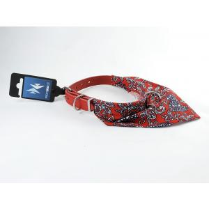 PROFIZOO Obojek + bavlněný šátek (12mm x 35cm) červená