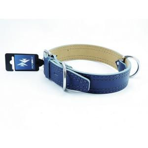 PROFIZOO Obojek HERRY obšitý (40mm x 65cm) modrá