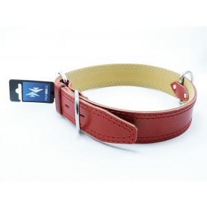 PROFIZOO Obojek HERRY obšitý (45mm x 80cm) červená