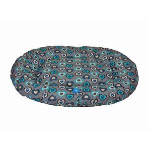 PROFIZOO Odolný Polštář standard č. 2 50cm vzor modrá srdíčka (Spylon)