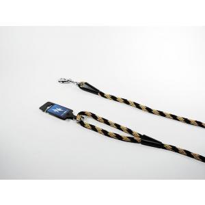 PROFIZOO Vodítko lano SPIRÁLA (10mm x 150cm) černo-béžová