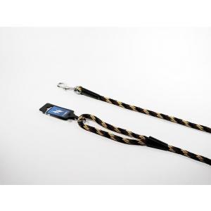 PROFIZOO Vodítko lano SPIRÁLA (10mm x 150cm) černo-hnědá