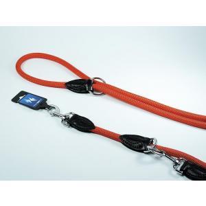PROFIZOO Vodítko přepínací lano JEDNOBAREVNÉ (12mm x 240cm) červená