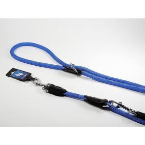 PROFIZOO Vodítko přepínací lano JEDNOBAREVNÉ (12mm x 240cm) modrá