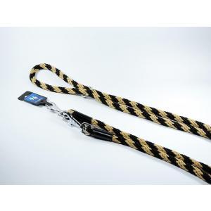 PROFIZOO Vodítko přepínací lano SPIRÁLA (14mm x 240cm) černo-béžová