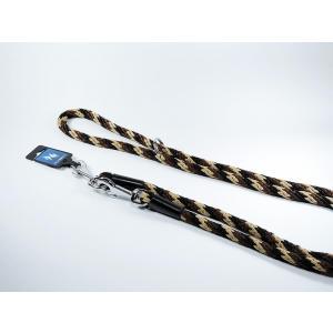PROFIZOO Vodítko přepínací lano SPIRÁLA (14mm x 240cm) černo-hnědá