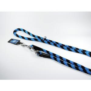 PROFIZOO Vodítko přepínací lano SPIRÁLA (14mm x 240cm) černo-modrá