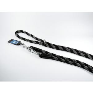 PROFIZOO Vodítko přepínací lano SPIRÁLA (14mm x 240cm) černo-šedá