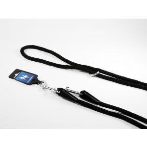 PROFIZOO Vodítko přepínací lano SPIRÁLA (6mm x 240cm) černá