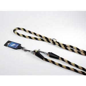 PROFIZOO Vodítko přepínací lano SPIRÁLA (6mm x 240cm) černo-béžová