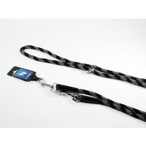 PROFIZOO Vodítko přepínací lano SPIRÁLA (6mm x 240cm) černo-šedá