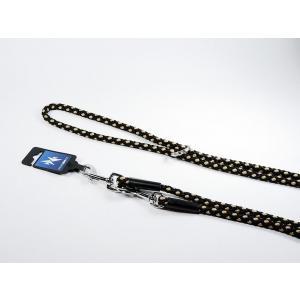 PROFIZOO Vodítko přepínací - syntetické lano (10mm x 240cm) černo-béžová