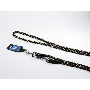 PROFIZOO Vodítko přepínací - syntetické lano (14mm x 240cm) černo-béžová