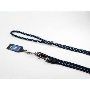 PROFIZOO Vodítko přepínací - syntetické lano (14mm x 240cm) černo-modrá