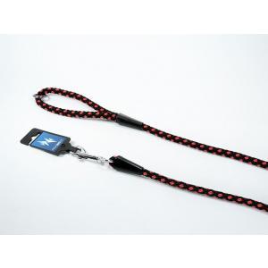 PROFIZOO Vodítko - syntetické lano (10mm x 150cm) černo-červená