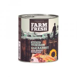 TOPSTEIN Farm Fresh Rabbit with Venison, Sweet Potato 400 g