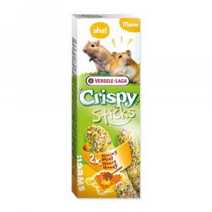 Tyčinky Crispy s medem pro křečky a pískomily 110g