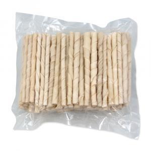 Tyčinky RASCO buvolí kroucené bílé 12,5 cm 100ks