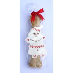 Vánoční Sněhulák velký + 1 ks přírodní kost 30 cm (DOPRODEJ)