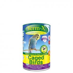 Verm-X Přírodní pelety proti střevním parazitům pro ptáky 100g