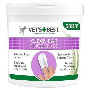 VET'S BEST Čisticí utěrka na uši pro psy, 50ks