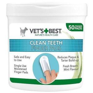 VET'S BEST Čisticí utěrka na zuby pro psy, 50ks